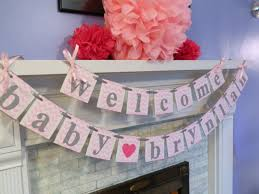 baby shower decorations welcome baby banner chevron baby