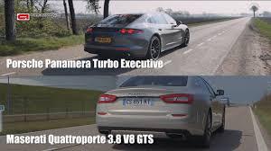 maserati porsche porsche panamera turbo vs maserati quattroporte gts speed youtube