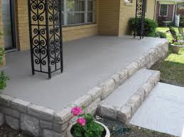 Stain Old Concrete Patio by The Old Yellow Brick Was Removed And Replaced Stone Along The