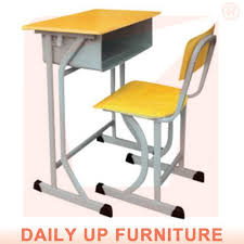 Wooden Student Desk Student Desk And Chair Fixed Child Bed Room Furniture Set