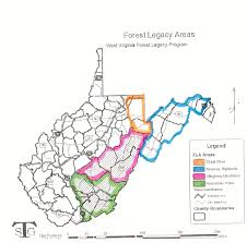 County Map West Virginia by Division Of Forestry