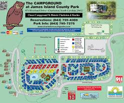 Map Of Charleston South Carolina Cp Campground Review U2013 James County Island Park Charleston Sc