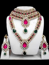 beautiful earring necklace set images Full bridal jewelry set jpg