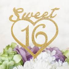 sweet 16 cake topper sweet 16 with heart silhouette sweet 16 birthday cake topper