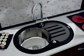 Round Stainless Kitchen Sink For Elegant Kitchen Fixtures As Well - Round sink kitchen
