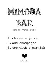 print for mimosa bar baby shower pinterest bar bridal