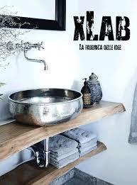 mobile bagno grezzo acquista arredo bagno mensola per piano lavabo in legno