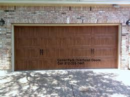 Overhead Garage Door Replacement Panels by Carriage Style Garage Doors Cedar Park Overhead Doors