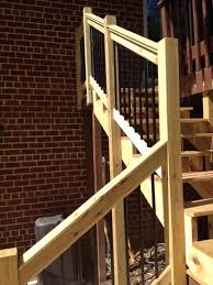 weathershield 6 ft pressure treated stair railing kit with black