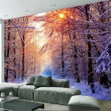 online get cheap abstract floral wallpaper aliexpress com winte snow sunshine tree hd photo wallpaper sofa tv background murals wall art decor abstract wall paper rolls 3d custom size