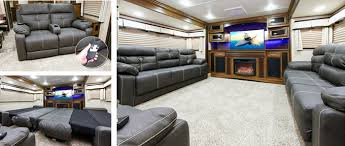 5th wheel with living room in front solitude 5th wheel trailer abc rv sales rvs cers trailers