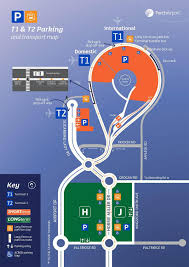 Chicago O Hare Parking Map by Perth Airport Parking Map Perth International Airport Parking
