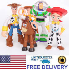 toy story woody jessie buzz lightyear animated 4 pcs action figure