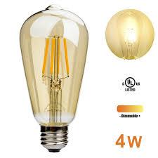 amazon com leadleds 4w edison style led bulb amber glass 40 watt