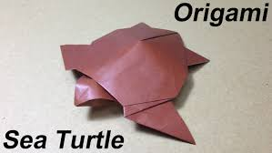 how to make a paper animal origami sea turtle youtube