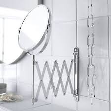 wall mounted extendable mirror bathroom wall mounted magnifying extendable shaving vanity makeup mirror