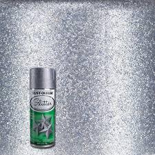 rust oleum specialty 10 25 oz silver glitter spray paint 267734