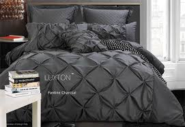 fantine charcoal quilt cover set in king queen size online