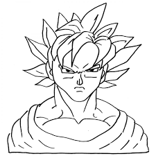 printable son goku face coloring sheet for boys
