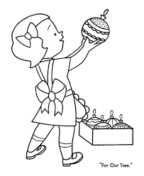 little with ornaments for christmas coloring page christmas