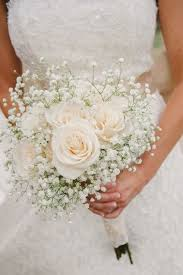 Baby S Breath Bouquets Ivory Roses U0026 Baby U0027s Breath Bouquet The Most Popular Wedding
