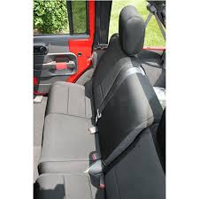 jeep black 2 door rugged ridge 13265 01 jeep wrangler rear seat cover neoprene 2007 18