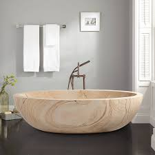 Travertine Bathtub Oval Modern Bathtub Signature Hardware
