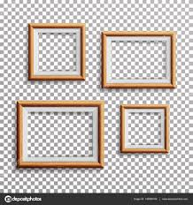 realistic photo frame vector set square a3 a4 sizes light wood