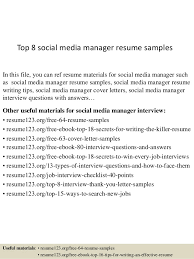 Social Media Resume Sample by Top 8 Social Media Manager Resume Samples 1 638 Jpg Cb U003d1430082221