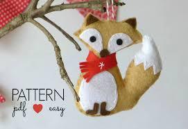 felt christmas pattern felt christmas ornament pattern felt fox