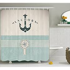 Nautical Bathroom Curtains Decor Shower Curtain By Ambesonne Nautical