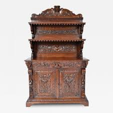 antique renaissance henry ii style buffet sideboard server