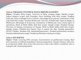 Teradata Sample Resume by Teradata Online Training