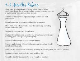 simple wedding planner wedding checklist 1 2 months the mba