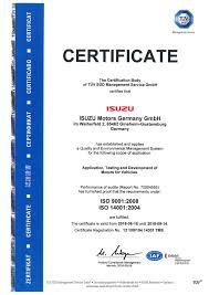 isuzu motors germany gmbh quality u0026 environment