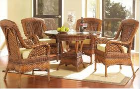 furniture spacious wicker rattan dining table and chairsi for