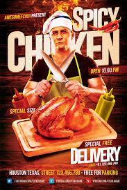 spicy chicken restaurant flyer template download flyer for photoshop