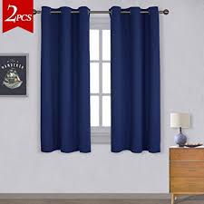 Blackout Navy Curtains Nicetown All Season Thermal Insulated Solid Grommet
