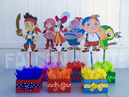 jake neverland pirates birthda party wood guest table