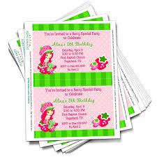 printable birthday invitations strawberry shortcake printable strawberry shortcake party invitations template