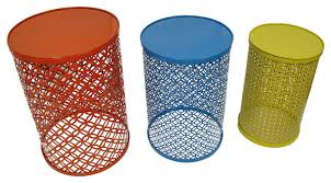 round metal side table adorable yellow metal side table with red blue and yellow decorative
