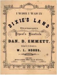 civil war lyrics dixie by daniel decatur emmett civil war