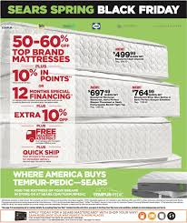 black friday 2017 mattress deals sears spring black friday sale members preview 4 23 4 24