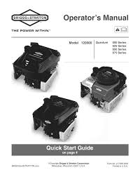 briggs u0026 stratton the power within 600 series user manual 20