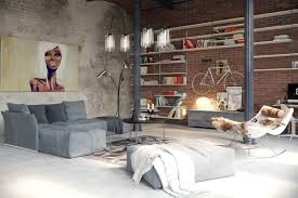 Industrial Look Living Room by Industrial Style For Living Room Design Apply With Concrete Brick