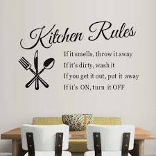 online get cheap cutlery wall decor aliexpress com alibaba group kitchen restaurant kitchen rules wall sticker waterproof vinyl cutlery wall decorative stickers pvc removable home decor