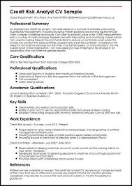 Credit Risk Business Analyst Resume Credit Risk Analyst Cover Letter