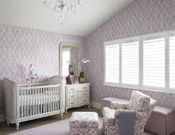 purple nursery with belle upholstered crib transitional nursery