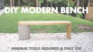 20 diy modern concrete and 2x12 wood bench very easy to make 8