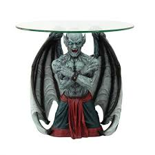 Glass Top Side Table Blood Moon Vampire Glass Top Sculptural Side Table By Tom Woods